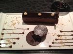chocolate desert which was very rich